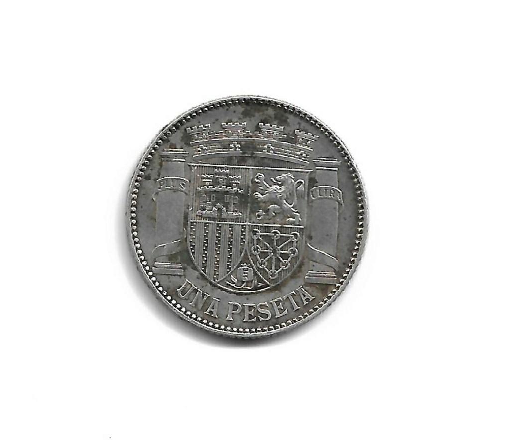 Ayuda manchas 1 Peseta 1933 ¿Corrosión? R211