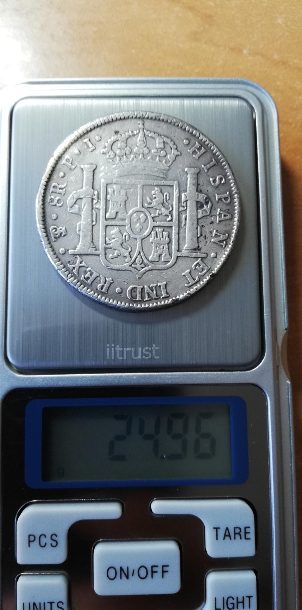 Escaso peso de 8 reales de Potosí de 1803 Img_2017
