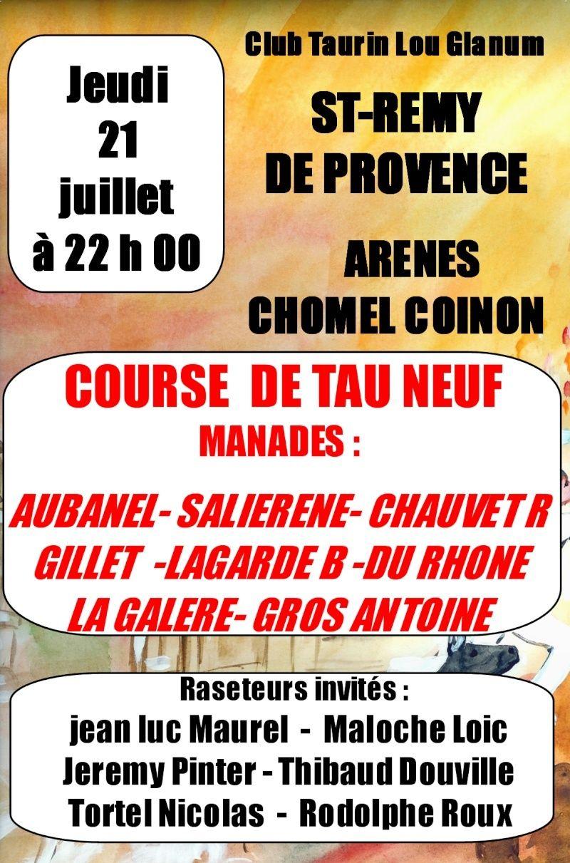 COURSE DE TAU NEUF ST REMY DE PCE LE 21 JUILLET Affich10