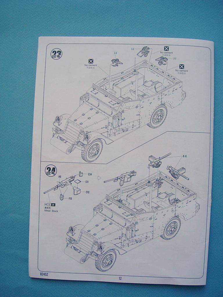 M3A1 Scout car Hobby Boss 1/35 Dscn0104