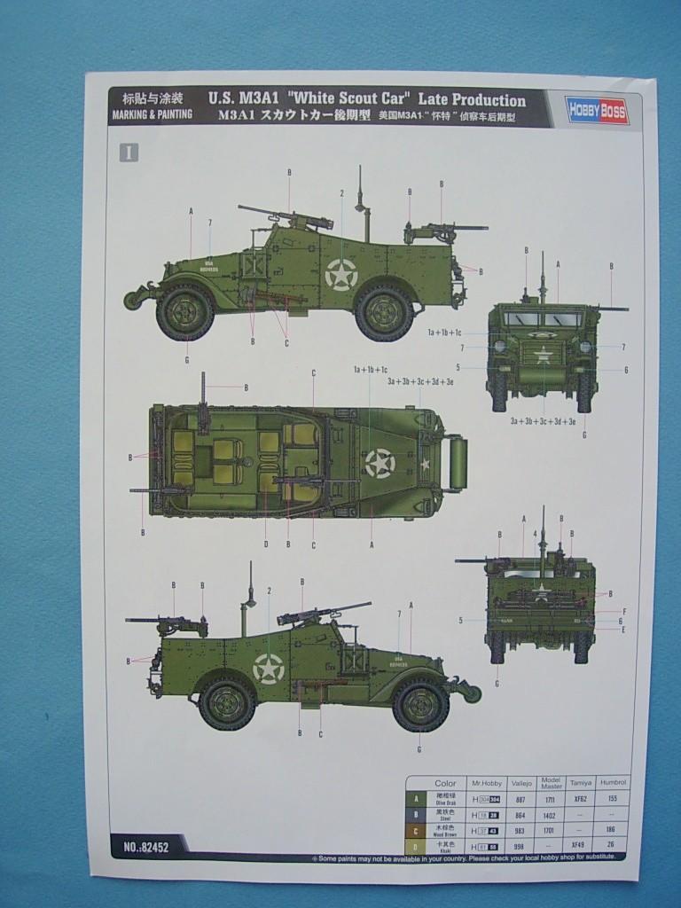 M3A1 Scout car Hobby Boss 1/35 Dscn0105