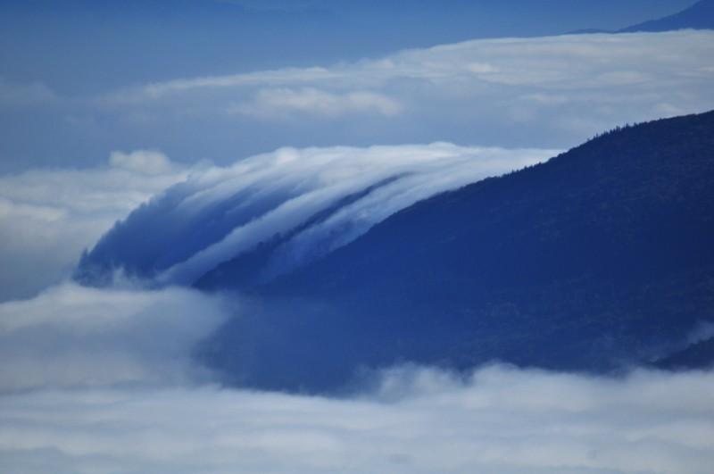 mer de nuage sur coucher de soleil Fleuve10