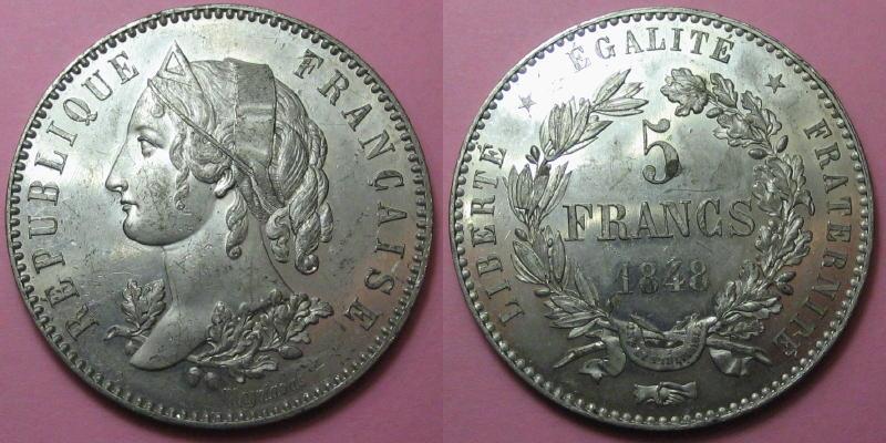 5 frs - Concours Magniadas - 1848 [WM 7884] 01112
