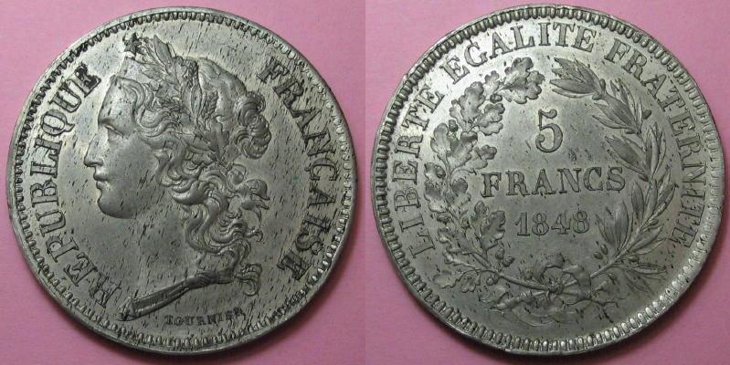 5 frs - Concours Tournier - 1848 [WM 7885] 01311