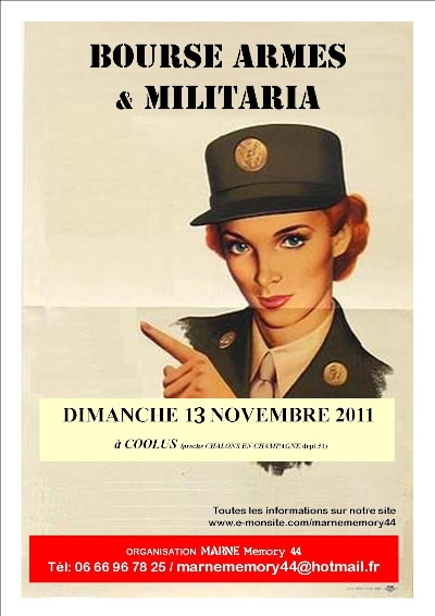 4éme Bourse aux armes & militaria, MARNE Memory 44 à Coolus 17715510