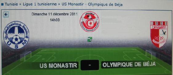6ème journée [ Monastir (huis clos): US Monastir - O.Béja Mestir77
