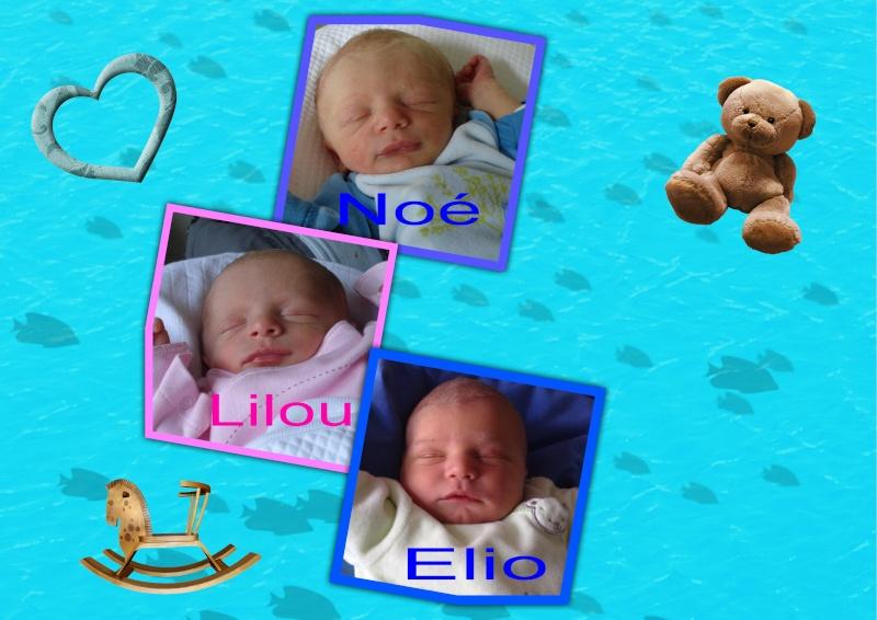 Noé, Lilou et Elio au même âge Noalil10