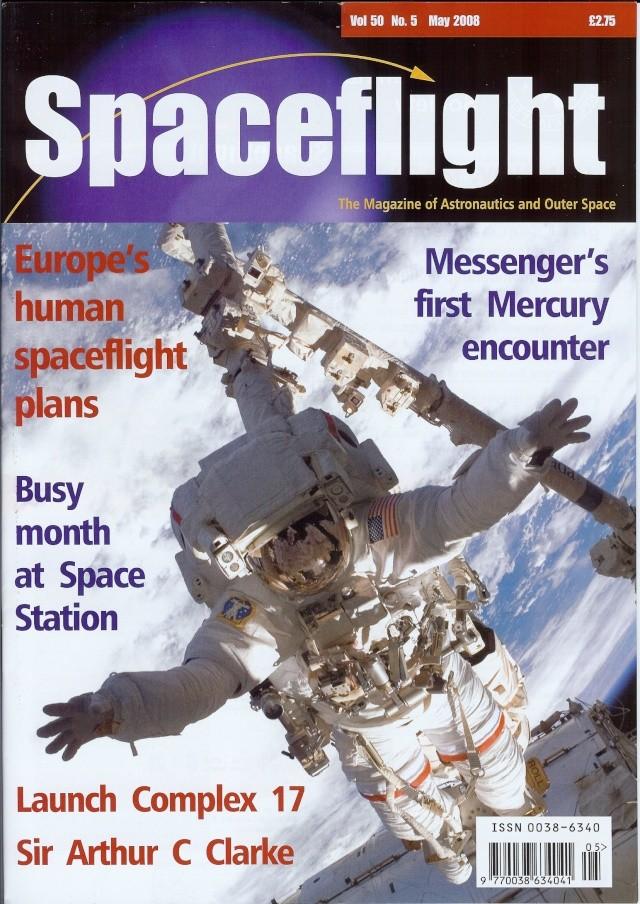 """Revues : """"Spaceflight vol 50 may 2008"""" 04-24-10"""