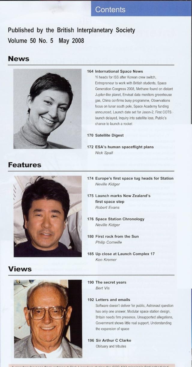 """Revues : """"Spaceflight vol 50 may 2008"""" 04-24-11"""