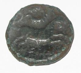 Unité ou bronze au taureau, (MB, Æ 26) - 121-45 AC. NEDENES As_a_i14