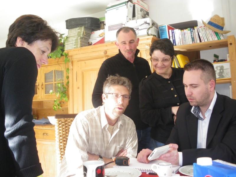 Photo réunion inprovisée chez Pierre. Imgp9330