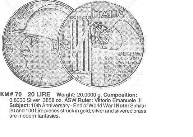 Italia, 20 lire. Mussolini. Tirada o algo mas? Vit_em10