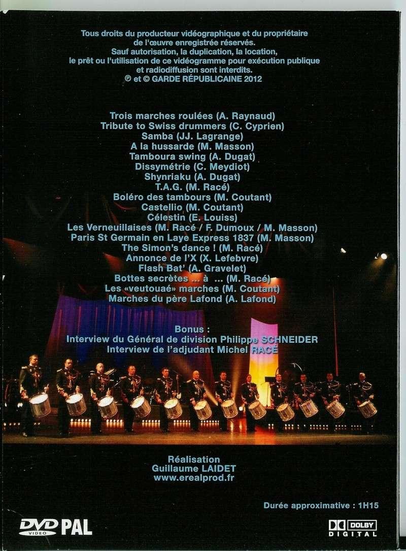 Sortie du DVD des Tambours de la Garde Républicaine. Dvd_de11