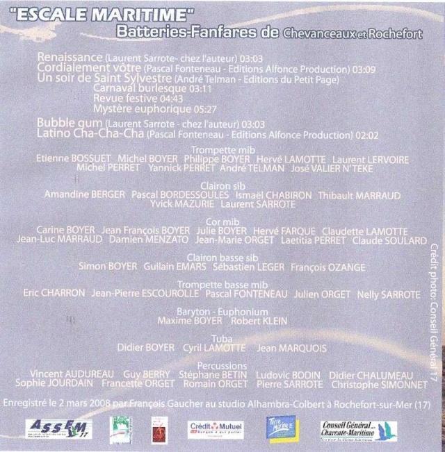 """CD """"Escale Maritime"""" (BF de Chevanceaux et Rochefort) Pochet11"""