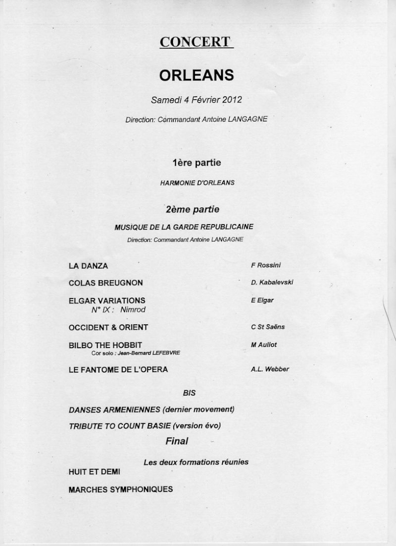 Concert Musique de la Garde Républicaine Progra10