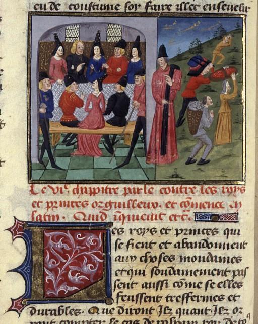 Iconos XVème siècle: vannerie, paniers,..... Boccac10