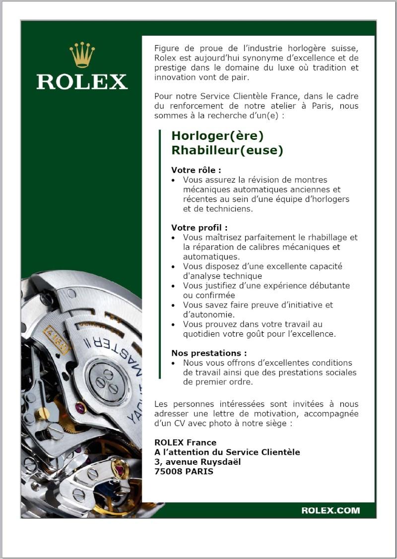 Rolex France cherche des horlogers Rolex_10