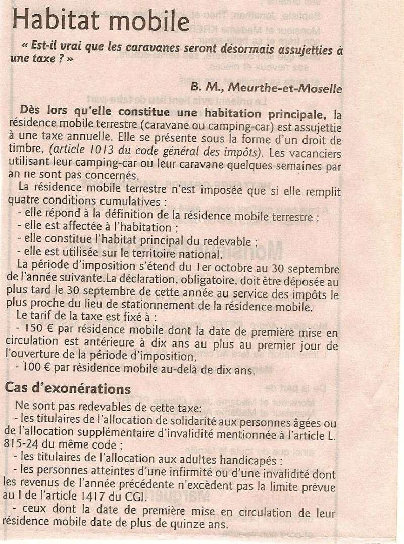 Impôts habitations mobiles . Taxe_m10