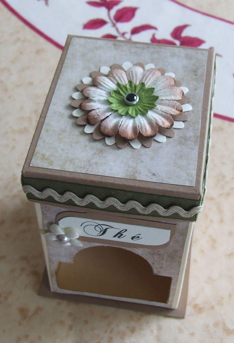 Boîte distributeur de sachets de thé  Boitet17