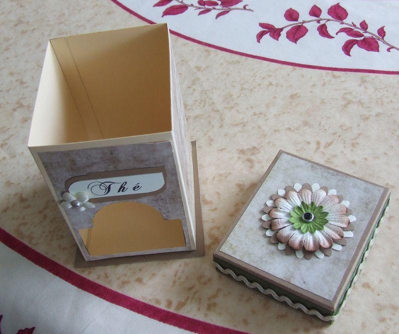 Boîte distributeur de sachets de thé  Boitet18