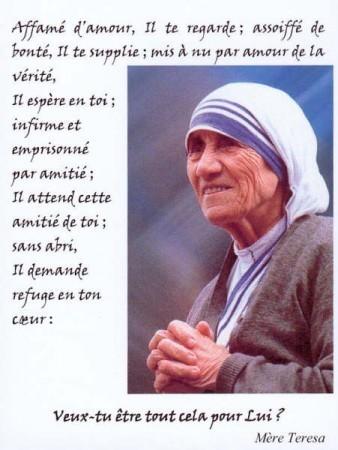 Michel blogue les 450 citations/Bienheureuse Mère Teresa de Calcutta/Navigation Libre/ Mare_t11