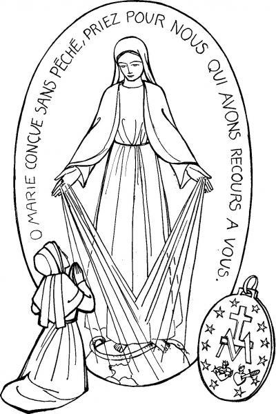Neuvaine avec Sainte Catherine Labouré (Médaille Miraculeuse Rue_du10