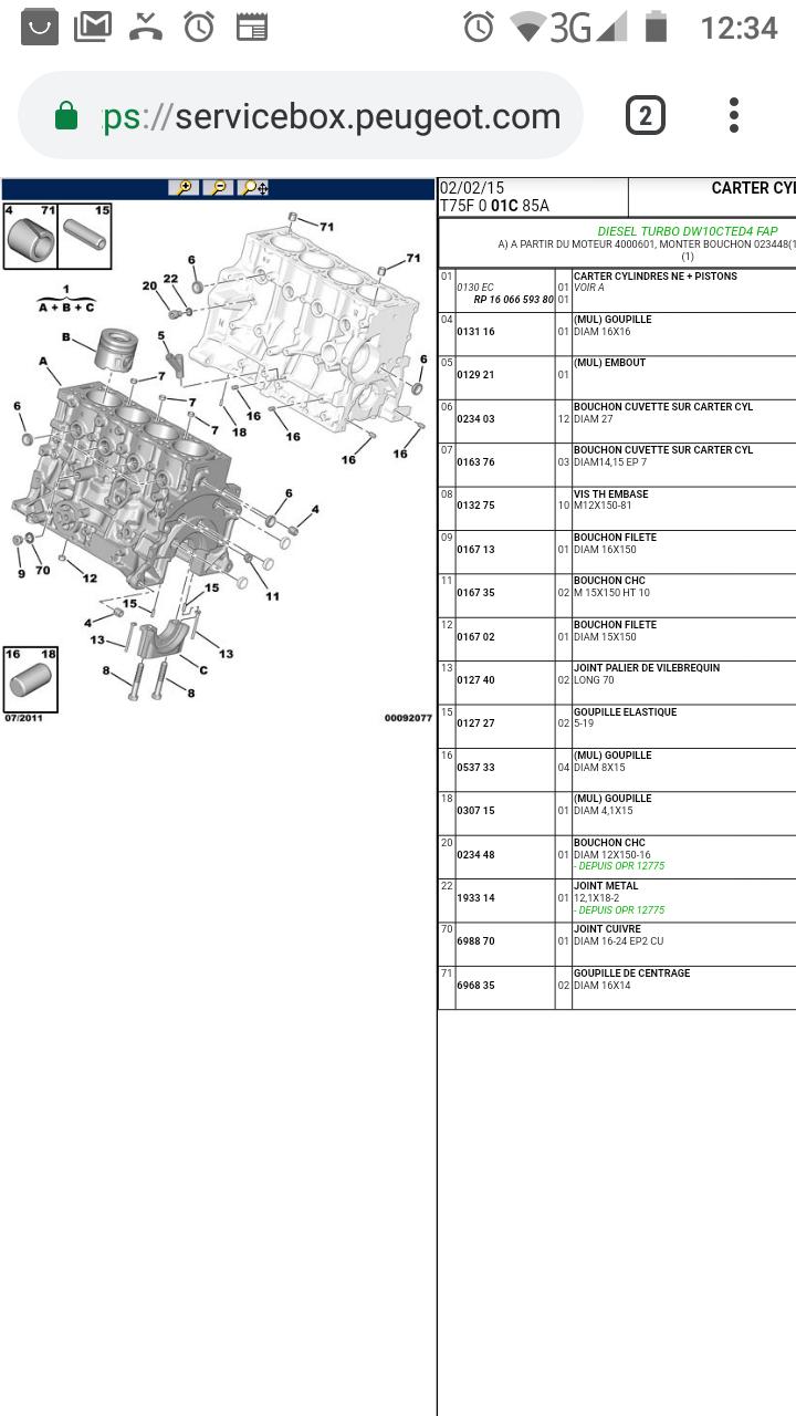 [ Peugeot RCZ 2.0 HDI FAP 163 an 2010 ] durite qui fuit Screen11