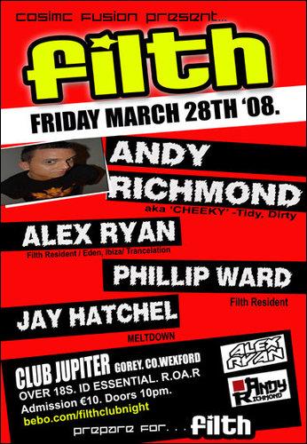 Comic Fusion presents FILTH@Club Jupiter Gorey, Co. Wexford Filth10
