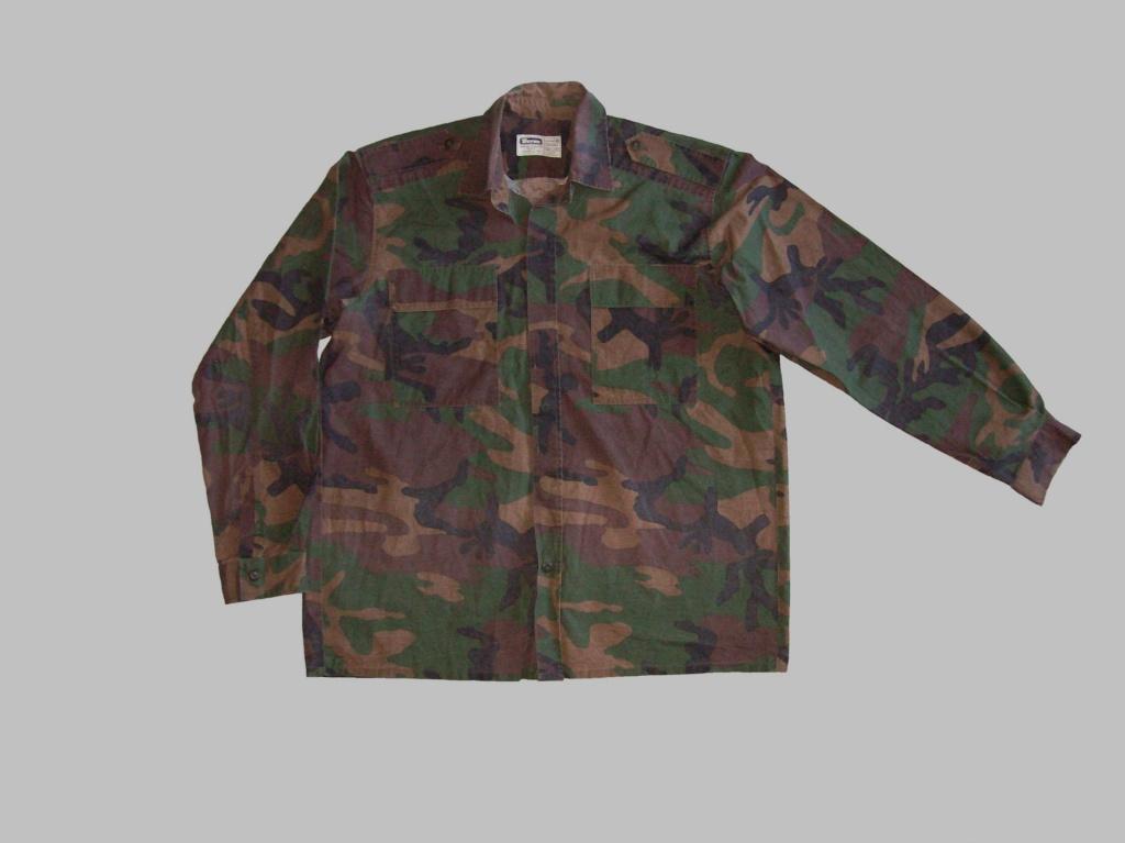 Bosnian woodland camouflage jacket & shirt 100_6913