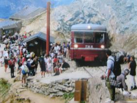 Photo de la montée du Nid d'Aigle-St Gervais Tram_m10