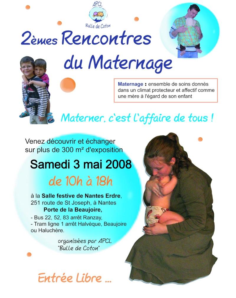 2ème rencontres du maternage à Nantes le 3 mai 2008 Affich10