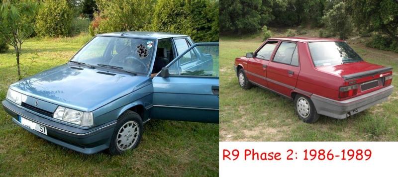 Les différentes phases de R9 et de R11 R92ja10