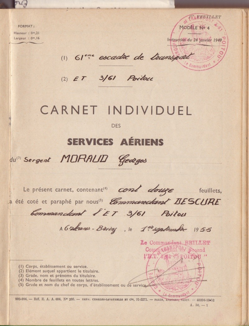 Mon Grand Oncle --Georges Moraud -- Pilote Carnet10