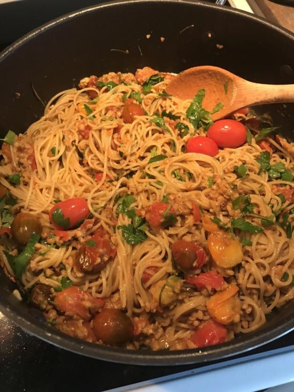 Pâtes aux tomates confites et noix de grenoble express De K pour Katrine 68a9ac10