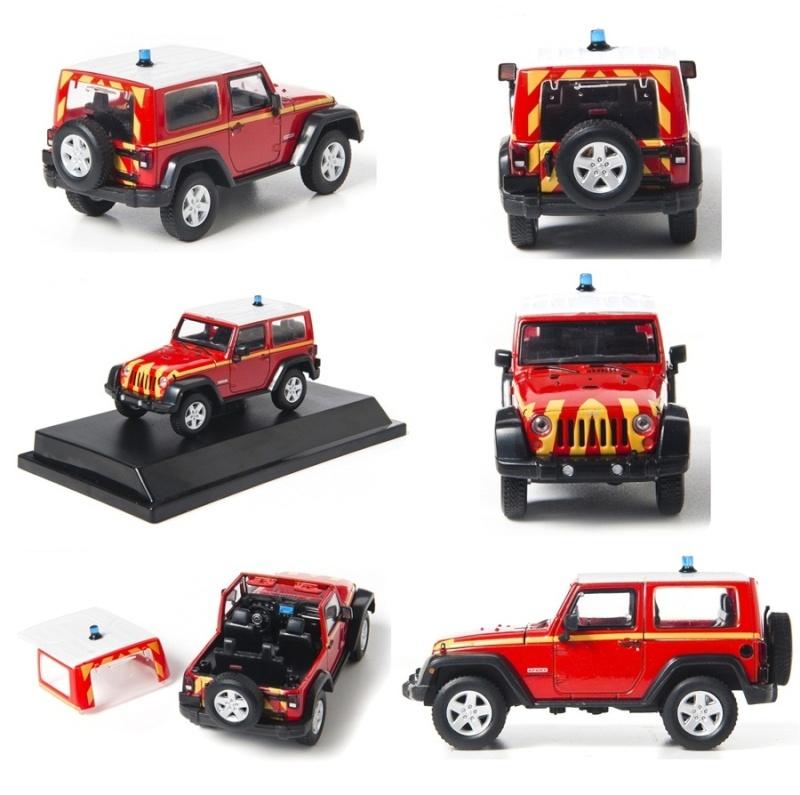 Jeep Wrangler Rubicon pompier 1/43 Nouveauté 2012 Jeep1010