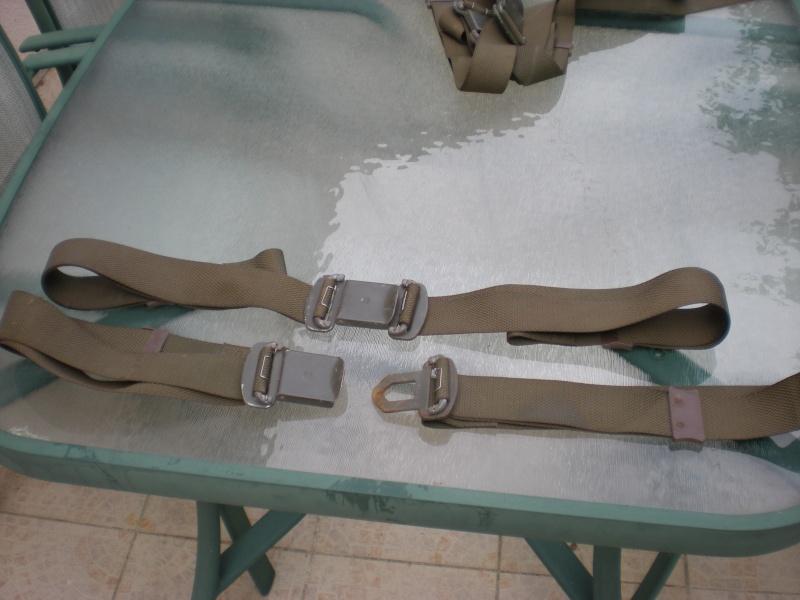 """(vendu ) paire de ceintures ventrales ou sangles de maintiens  militaires """"nos """"idéal rat rod . Dscn1818"""