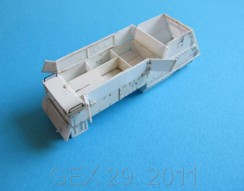 ARMORED  AUTOCAR Canadian mg carrier WWI ( scratch ) 1/72° Terminé Acc00910