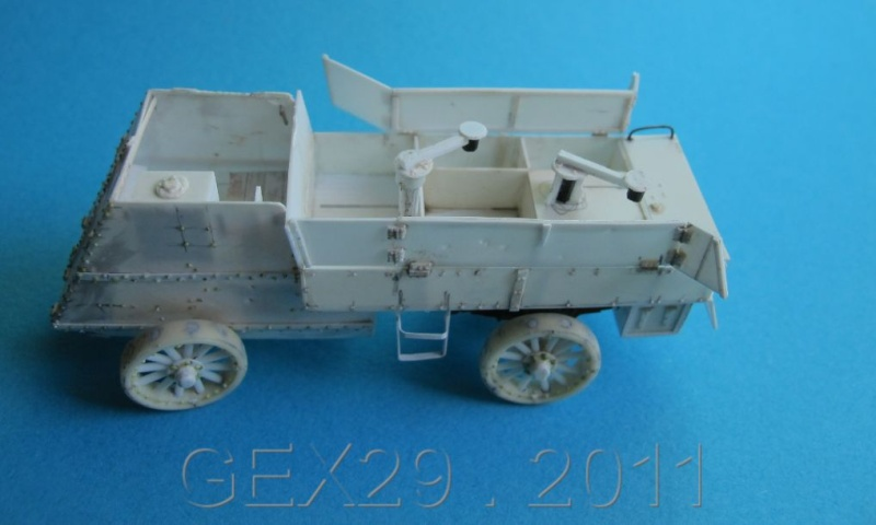 ARMORED  AUTOCAR Canadian mg carrier WWI ( scratch ) 1/72° Terminé Acc01210