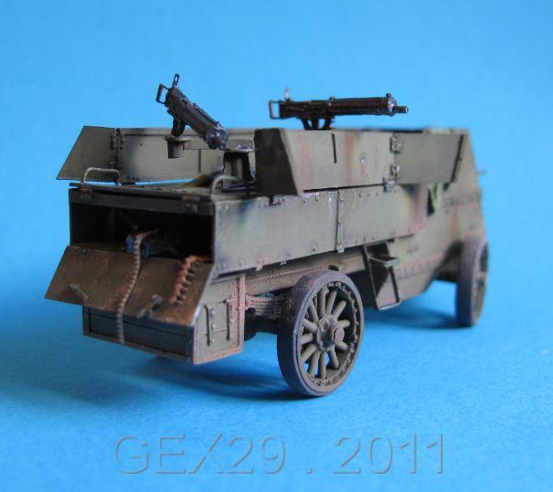 Canadian armoured autocar 1918 - Scratch 1/72 Acc02310
