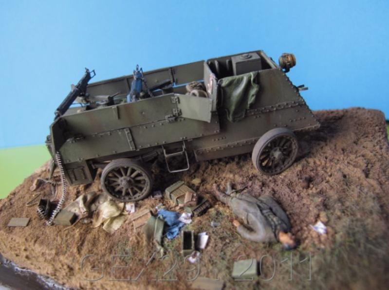 Canadian armoured autocar 1918 - Scratch 1/72 Acc03410