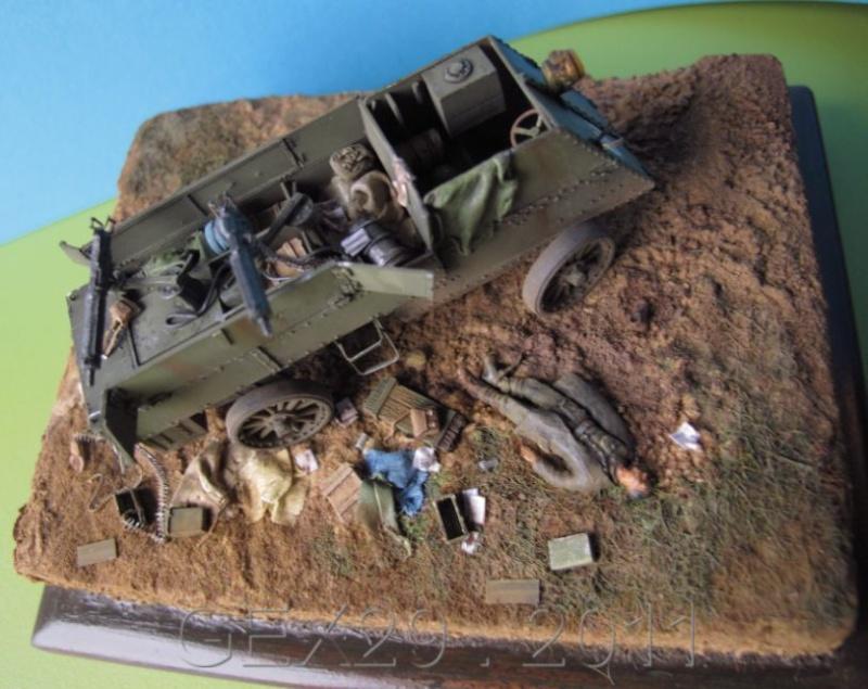 Canadian armoured autocar 1918 - Scratch 1/72 Acc03510