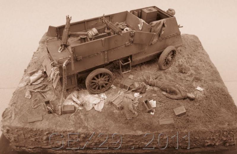 Canadian armoured autocar 1918 - Scratch 1/72 Acc06310