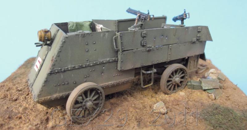 Canadian armoured autocar 1918 - Scratch 1/72 Acc06410