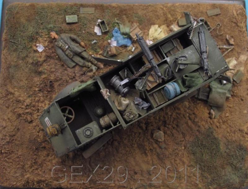 Canadian armoured autocar 1918 - Scratch 1/72 Acc6210