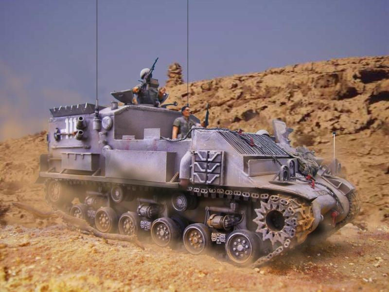 Ambutank et M74 IDF - 1/35 - Bases Dragon et Italeri Medic212