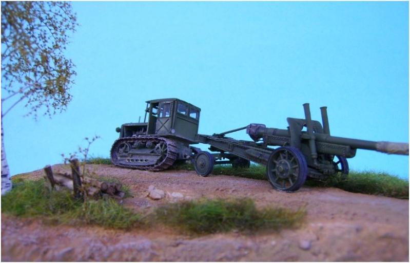 tracteur stalinetz et obusier de 152, 1/72° Pict5515