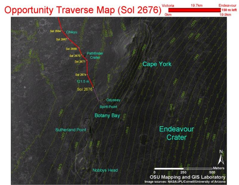 Opportunity et l'exploration du cratère Endeavour Image156