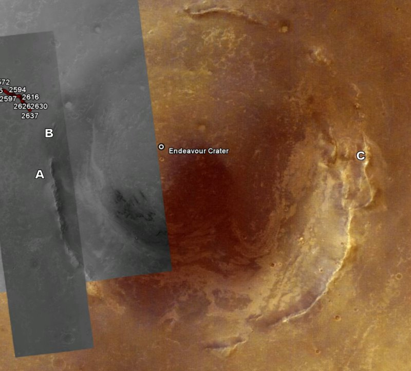 Opportunity va explorer le cratère Endeavour - Page 13 Image310