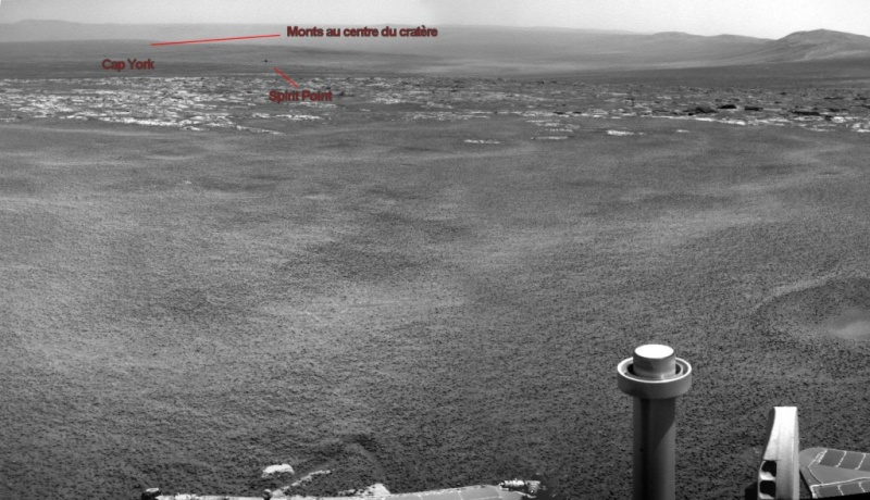 Opportunity et l'exploration du cratère Endeavour Image317