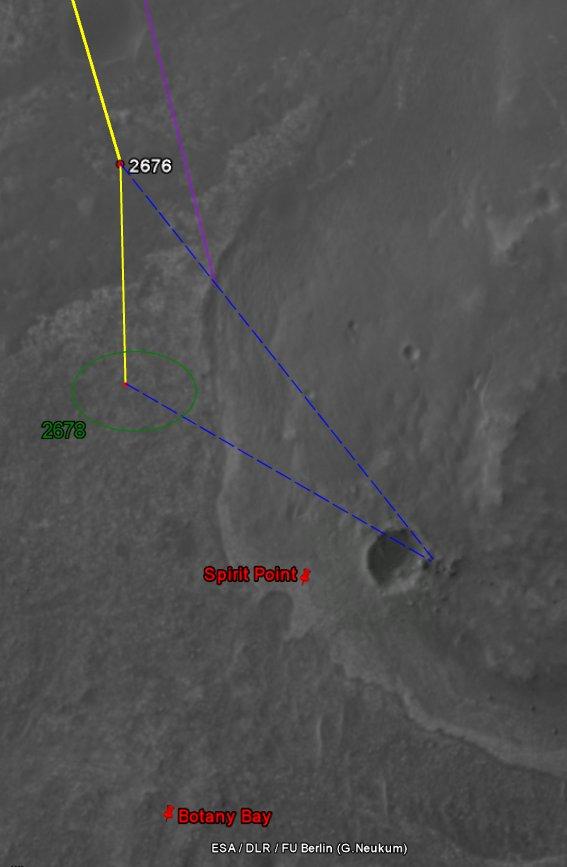 Opportunity et l'exploration du cratère Endeavour Image512
